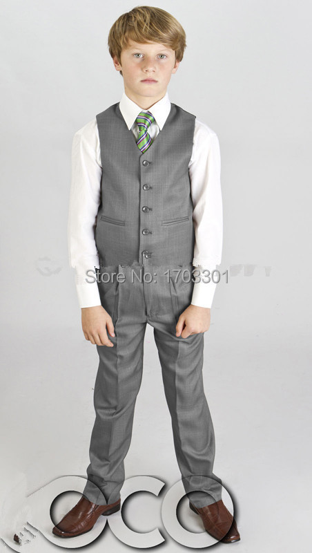 Boys Grey Suit Vest | Wedding Tips and Inspiration