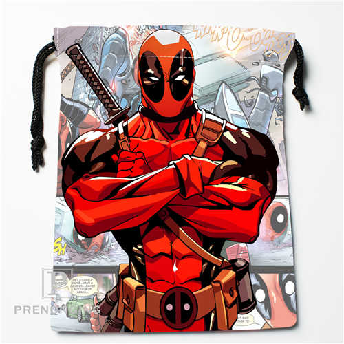 Custom Deadpool Drawstring Bags Printing Fashion Travel Storage Mini Pouch Swim Hiking Toy Bag Size 18x22cm #171208-02