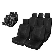 PU Leather Car Seat Cover Set Four Seasons Universal Auto Cushion Interior Accessories 11pcs Protect Car from Wear Tear Spills
