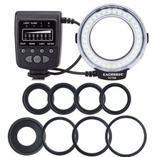 Meike FC-100 for Canon, Macro Ring Flash/Light MK FC100 for Canon EOS 650D 600D 60D 7D 550D 1100D T4i T3i T3 meike mk 14ext mk 14 ext ettl macro ttl ring flash af assist lamp for canon 5d iii 6d 650d 500d 1000d 450d camera