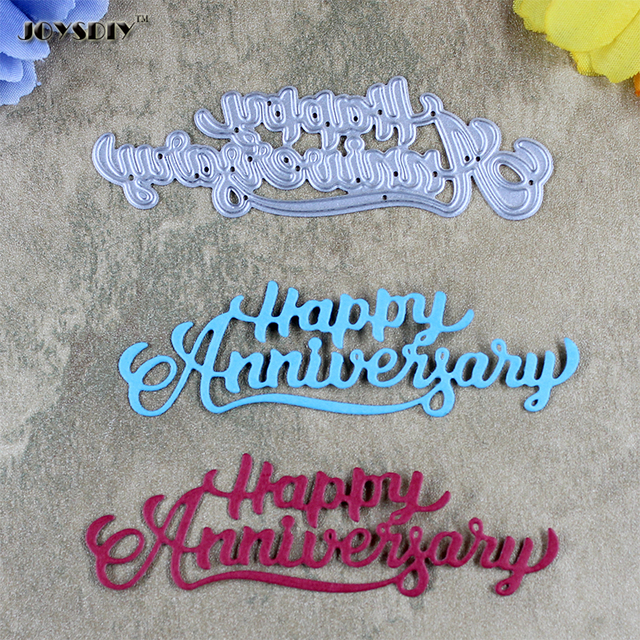 Happy Anniversary Scrapbook Cutting Dies Metal Die Cutting Die For