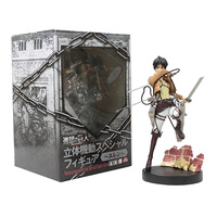 Original Japan Anime Shingeki No Kyojin Attack on Titan 19cm Eren Yeager Sega PVC Action Figure Doll Toy for boys gift boxed