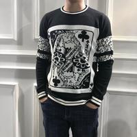 WLD08806 модные Для мужчин свитера 2018 люксовых брендов Европы Стиль дизайнер Винтаж Для мужчин одежда