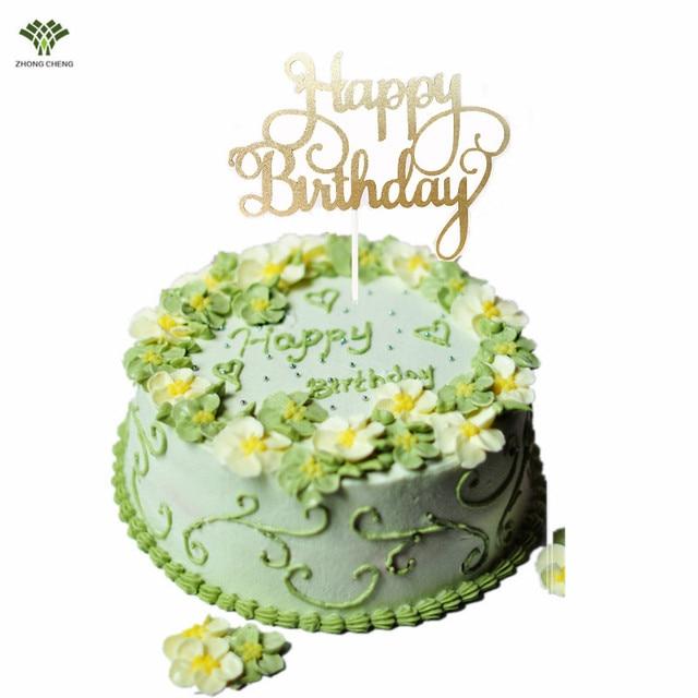 10pcs Happy Birthday Cake Topper Picks Flag Decoration For Kids Baby