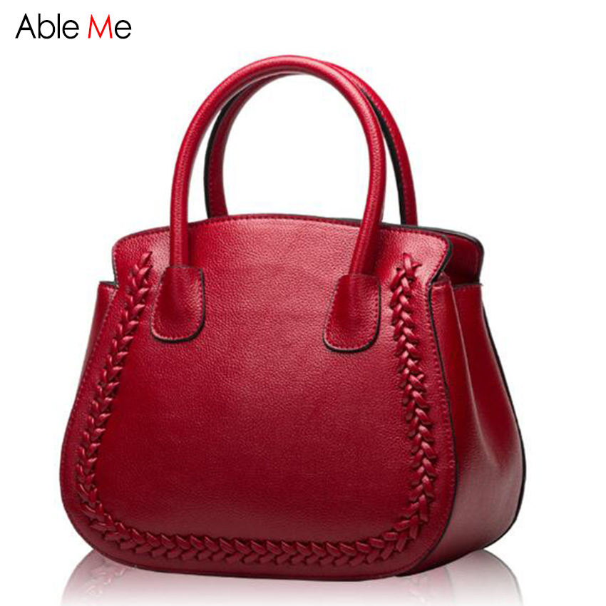 купить High quality Cow Leather handbags elegant lady Totes Europe Style women bags Small shell shoulder bag fashion handbag female недорого