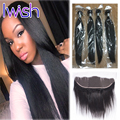 Brazilian Virgin Hair Straight Lace Frontal Weave Brazilian Hair Weave Bundles with Closure Lace Frontal Closure with Bundles