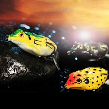 1pcs 50mm/13g Artificial Bait Frog Lure Single Hook Spinner Fishing Soft Lure Black Fish Killer Fishing lures Soft Frog Drop JC 1pcs soft rubber frog fishing lure bass crankbait 3d eye simulation frog spinner spoon bait 8cm 6g fishing tackle accessories