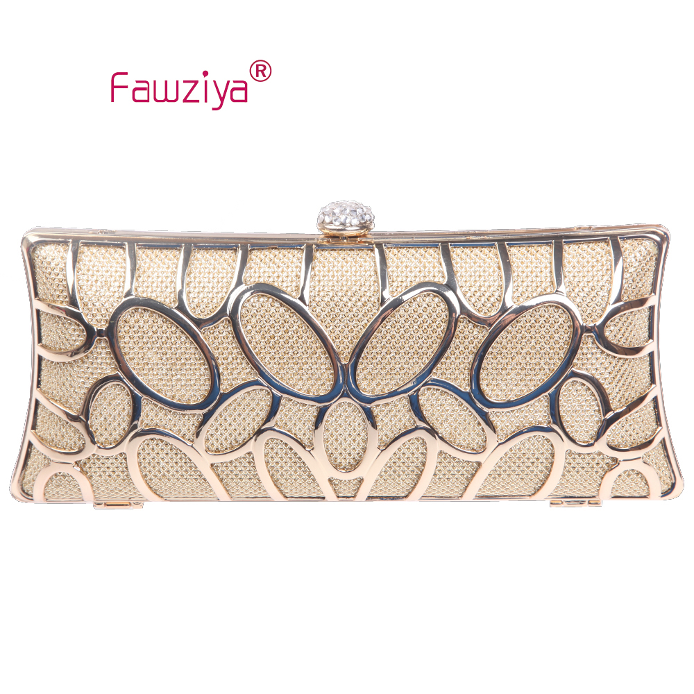Fawziya Candy Color Bag O shape metal baguette style ladies font b clutch b font bag