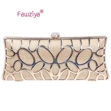 Fawziya Candy Farbe Tasche O-form metall baguette stil damen handtasche