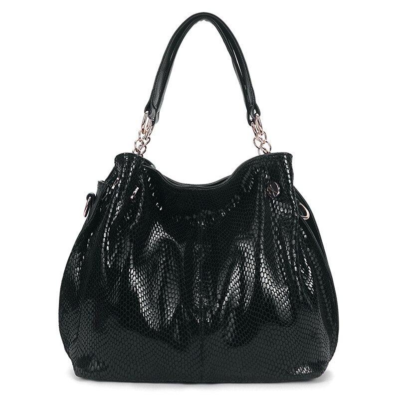 Mode femmes en cuir élégant sac à bandoulière multi-fonction grand luxe sacs à main doux femme entraînement solide noir bolsa sac