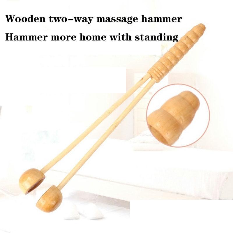 Wooden hammer on the back leg massage acupoint meridian Massager Massage Stick beat beat hammer Chuibei is small new massage hammer pat stick acupoint massager body back therapy meridian knock