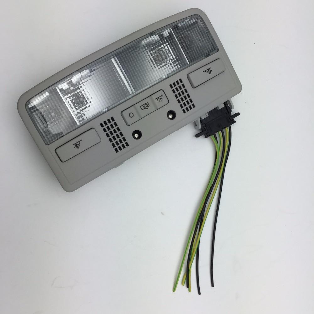 Lampe de lecture intérieure couleur dôme gris pour VW Passat B5 3BD 947 105 2EN