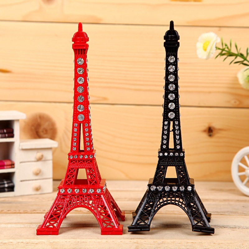 13cm rhinestone paris eiffel tower decoration business gifts paint color diamond eiffel tower - Decoratie themakamer paris ...