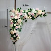 1 шт. 120 см Свадебный арочный ряд цветов цветочные искусственные цветы стены на свадьбу для заднего плана сцены домашний декоративный искусс