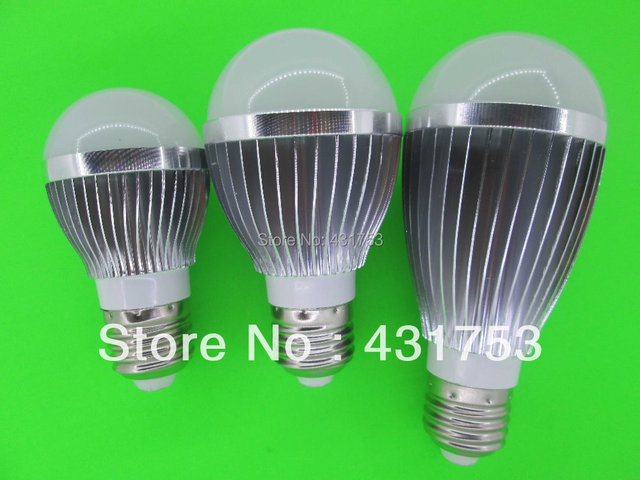 2014 Sale Real Led Lamp Led Bulb Lamp,dimmable Ac85-265v ,e14 E27 Gu10,silver Shell Color ,warm/cool White,5*2w +freeshipping