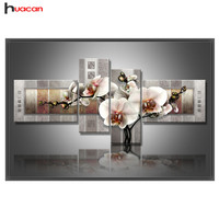 Diamond Painting Embroidery Kit Pictures Of Rhinestones Flower Floral Multi Picture Combination Triptych Decoration N5FFMMP 2014
