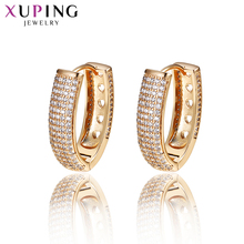 Xuping Jewelry Earrings Hoops Gold Color Plated Elegant Charm Style Girls Women Gifts for Christmas S86-20132 11 11 deals xuping fashion figure shape pattern jewelry sets gold color plated jewelry thanksgiving gifts for women s122 65105