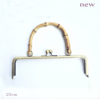 8 PCS, 25 cm/ 9.8 inch Elegant Faux Pearl Curved Sew in Ball Clasp Lock Purse Frame