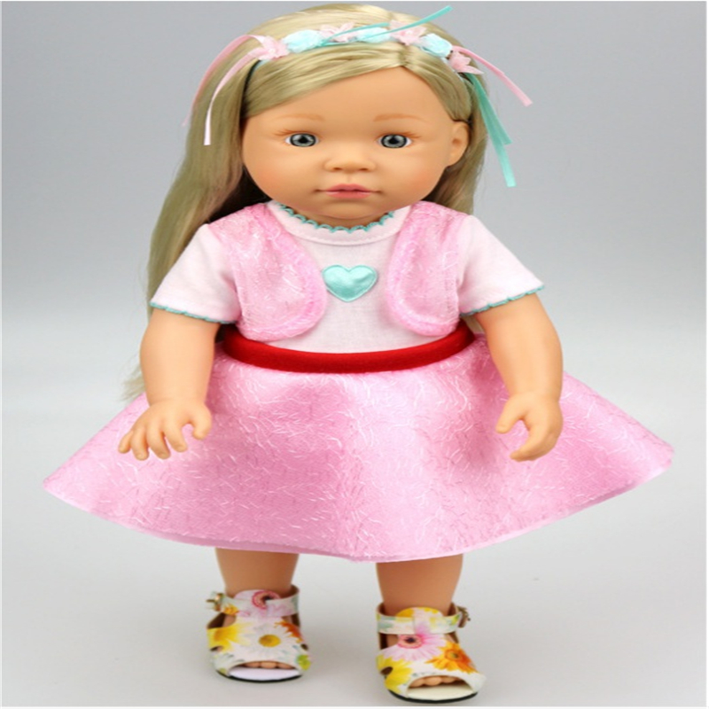 18-inch American girl dolls holiday two pink dress for newborn babies is most suitable for gift(only sell the dress)