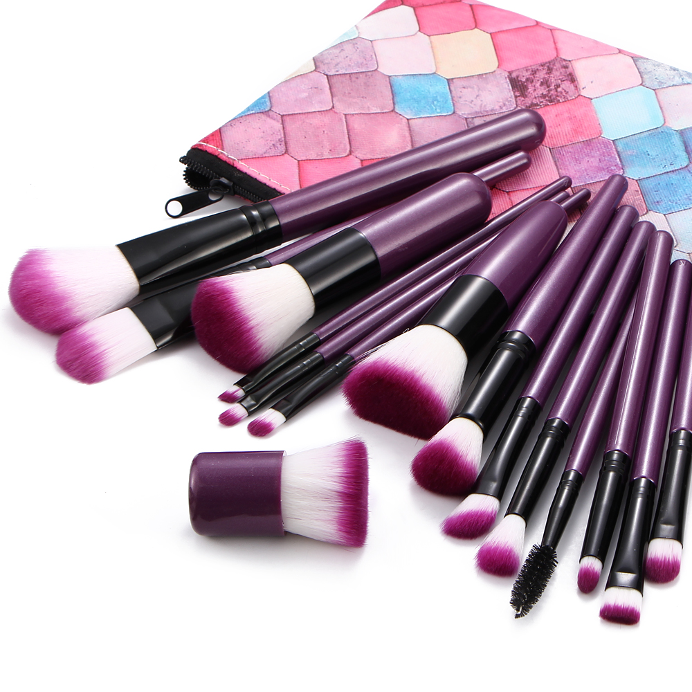 MAANGE 15Pcs Makeup Brushes Set Powder Eye Shadow Contour Blend Highlight Blush Lip Beauty Make Up Brush Case Cosmetic Tool Kit msq 15pcs professional makeup brushes set foundation fiber goat hair make up brush kit with pu leather case makeup beauty tool