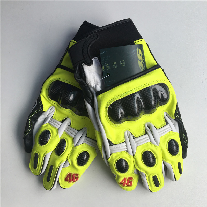 2017 new hot motorcycle gloves MOTO GP VR46 Rossi high quality gloves comfortable leathe ...