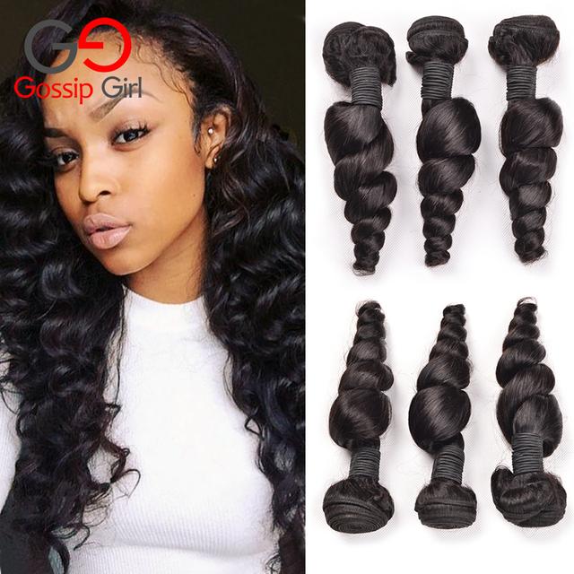Gossip girl 3 ofertas de paquete pelo virginal suelta la onda brasileña suelta la onda mejor calidad armadura brasileña del pelo lía noshedding