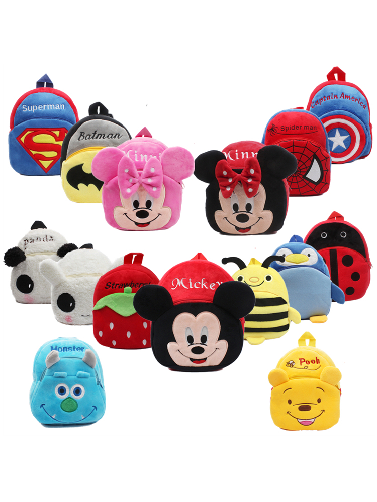 3D Cartoon Plush Kids Plush Backpacks Mini Schoolbag Child Plush Backpack Children School Bags Girls Boys Backpack(China)