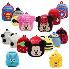 3D Cartoon School Bag Kids Plush Backpacks Mini schoolbag Child Plush Backpack C