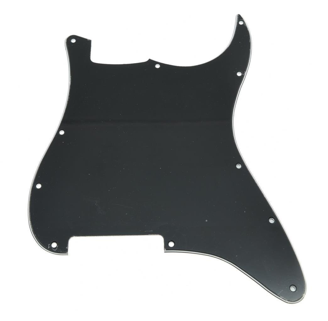 все цены на  High quality 11 Hole Strat Blank Pickguard No Pickup Holes Black 3 Ply for Fender  онлайн
