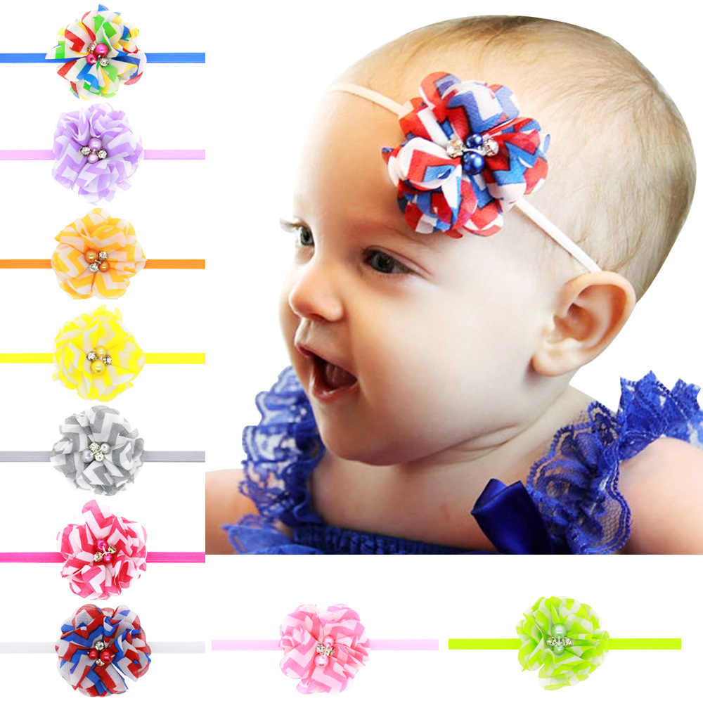 baby girl headband Infant hair accessories flower band bows newborn Headwear tiara headwrap Gift Toddlers Ribbon bandage