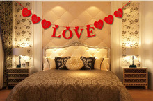 Artificial Flowers Rushed Love Just Married Wedding Banner Party Decoration Bunting Garland Handmade Souvenirs 2016 New Car