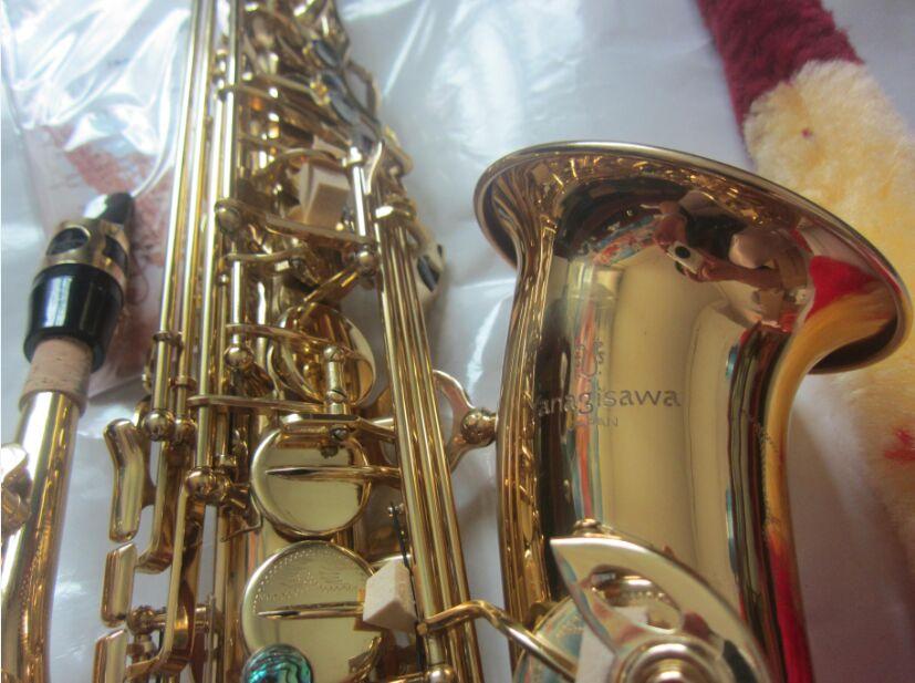 Japan yanagisawa A-992 alto sax electrophoresis gold saxophone professional  brass musical instruments alto saxophone ith case