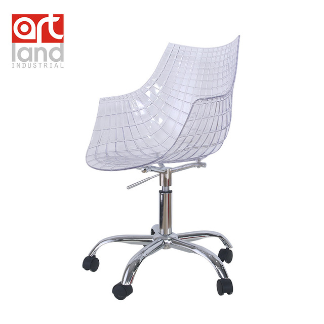 Silla de oficina, cromo base de 5 estrellas con ruedas, silla ...