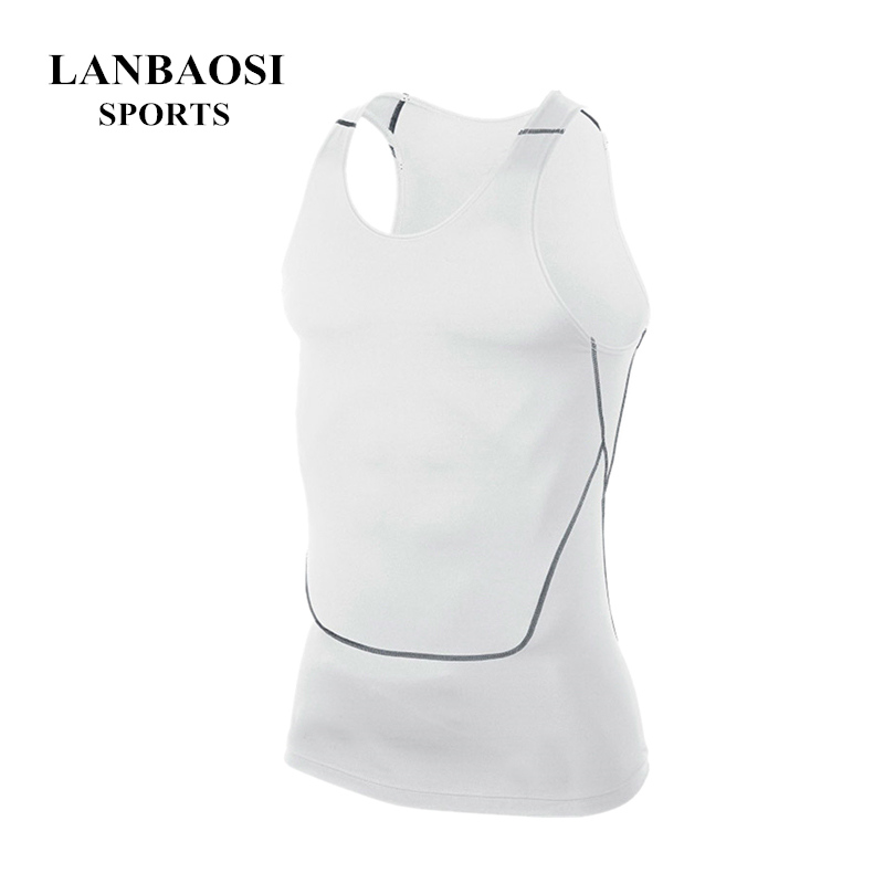 Men's Clothing Mens Sports Compression Base Layers Tops Tight Tank T-shirts Vests Activewear