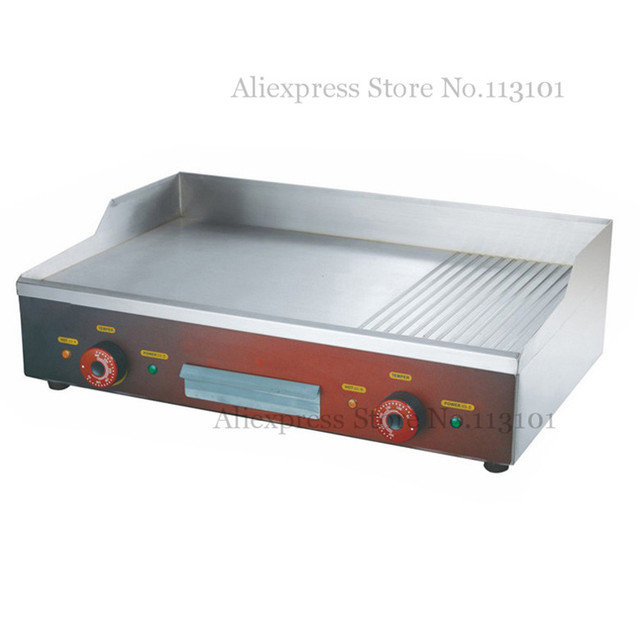 Arbeitsplatte Elektrische Teppanyaki Grillplatte Edelstahl