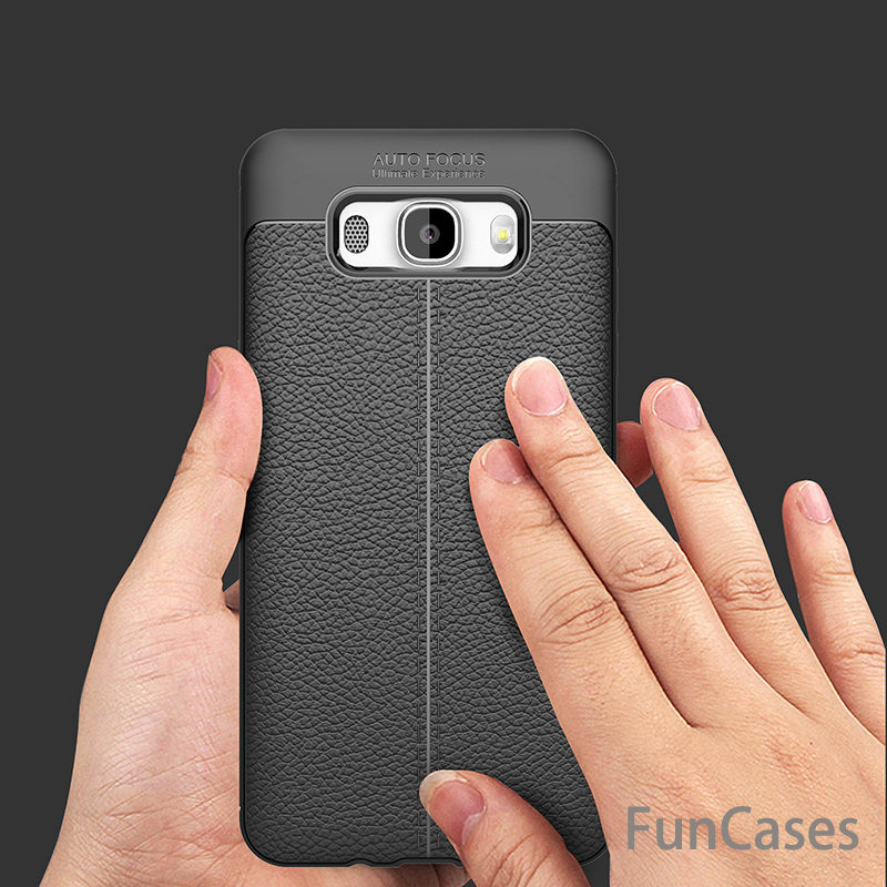 Soft TPU Cover For Samsung Galaxy J7 2016 J710 Carbon Fiber PU leather case For Samsung Galaxy J7 J710F Silicone Armor capa
