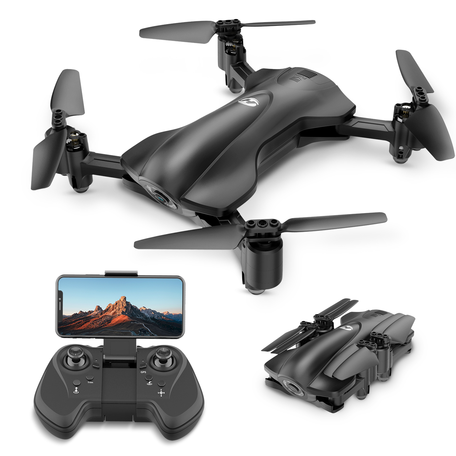 Holy Stone HS165 Foldable GPS Drone 5G 1080P HD Camera Tap Fly Circle Fly with Altitude