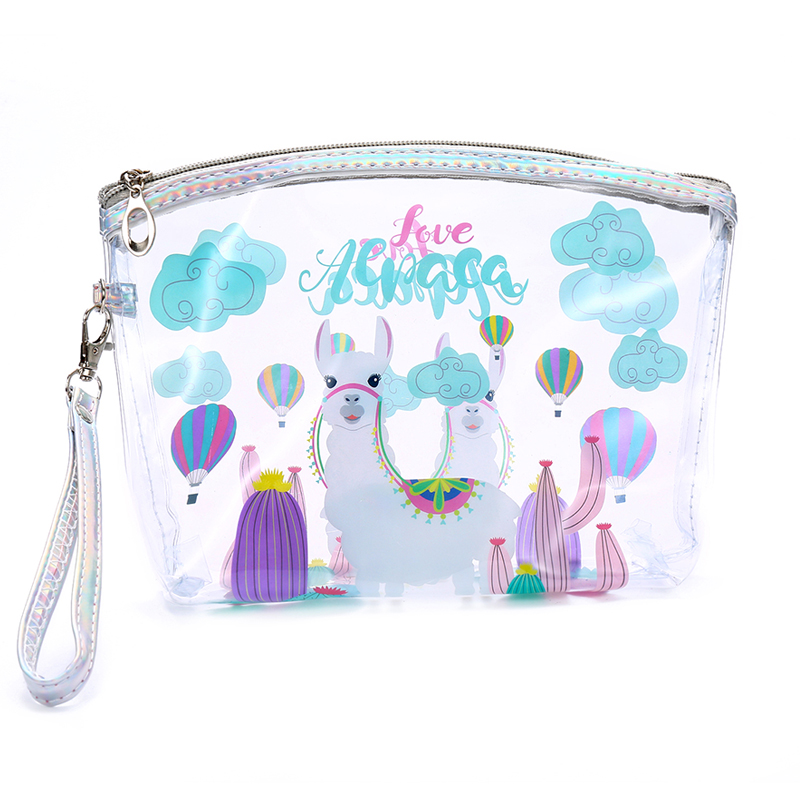 Cartoon Clear Makeup Bag Women Cosmetic bag Case Waterproof Travel Accessory PVC Organizer Toiletry Bag Girls Wash Pouch цена