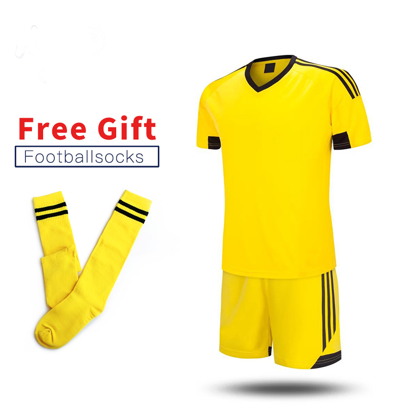 цена ONEDOYEE New Children Football Jerseys Boys Soccer Clothes Sets Short Sleeve Kids Football Uniforms Kids Soccer Tracksuit Jersey