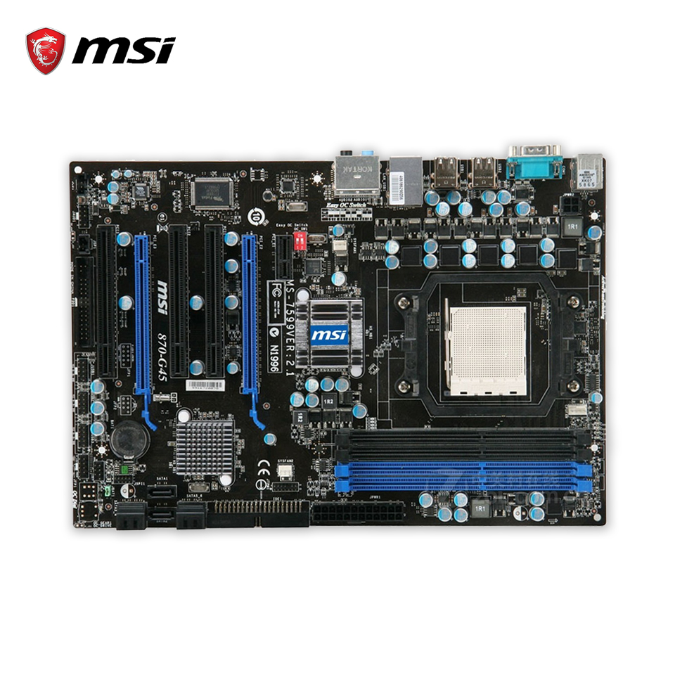 все цены на MSI 870-G45 Desktop Motherboard 770 Socket AM3 DDR3 16G SATA2 USB2.0 ATX онлайн
