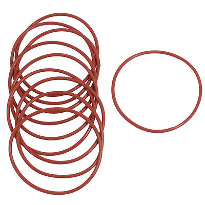 10 Pcs 53mm Outside Dia 2mm Thick Industrial Rubber O Rings Seals-in ...