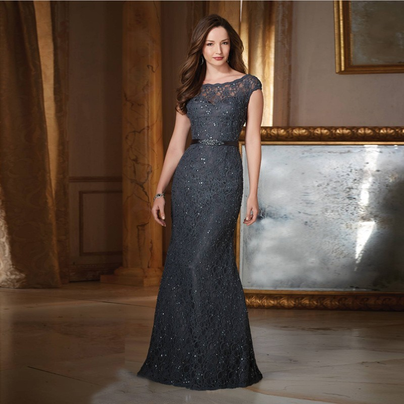 New-Arrival-Scoop-Neck-with-Cap-Sleeves-Purple-Gray-Sheath-Lace-Mother-of-the-Bride-Dresses