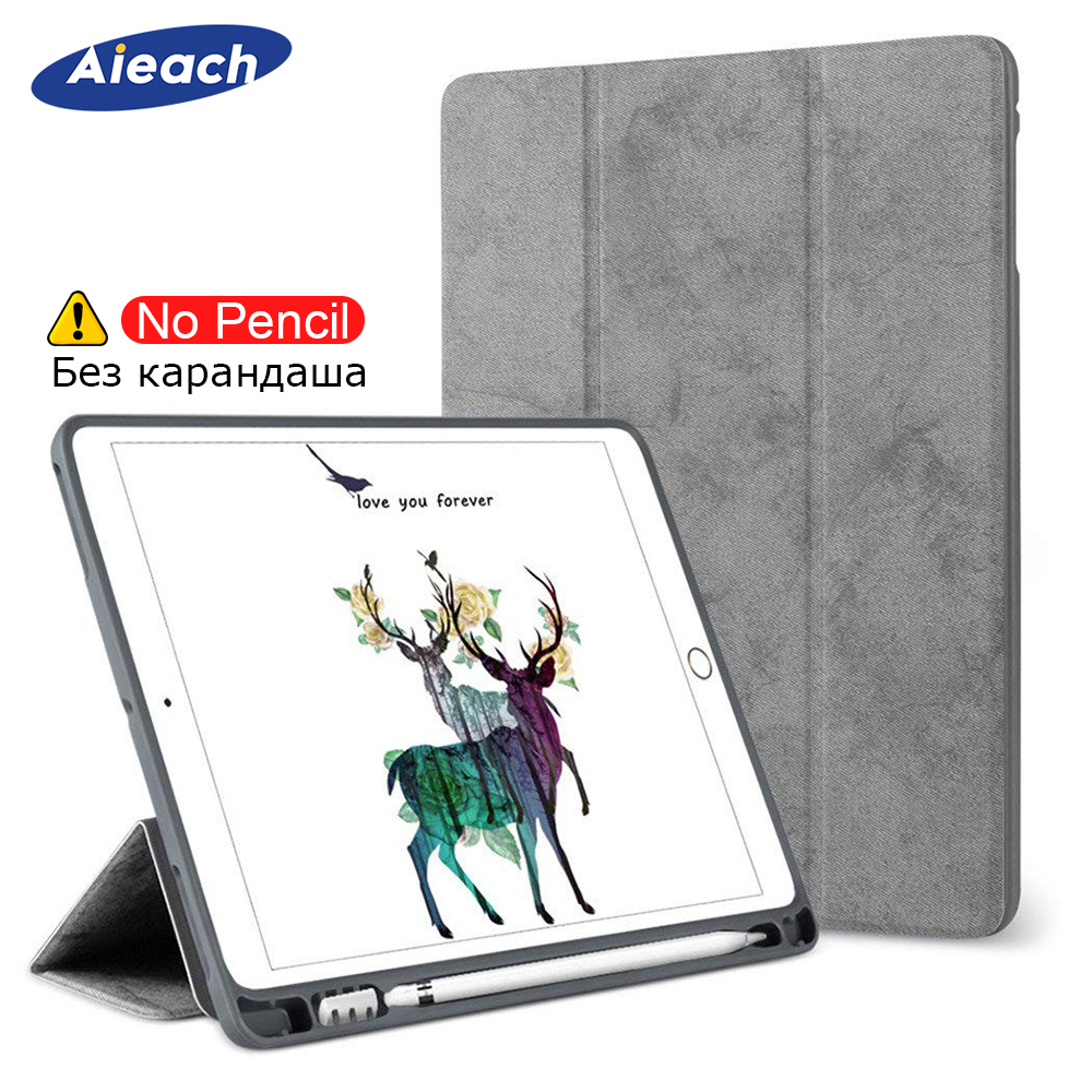 Case For IPad 9.7 2018 2017 With Pencil Holder Smart Cover Magnetic Stand Funda Silicone Back Case For Apple IPad 2018 9.7 Inch