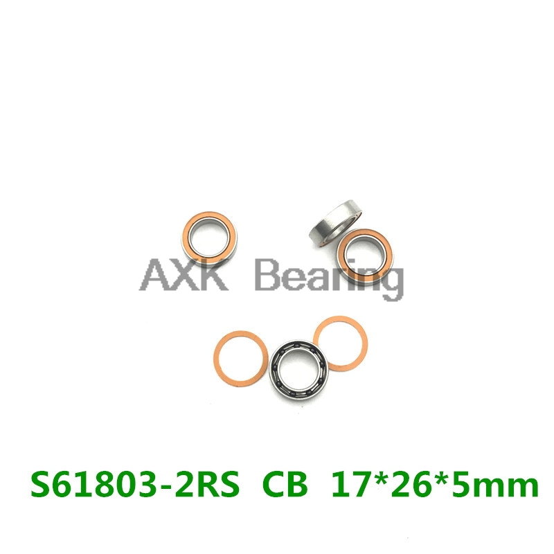 2018 New Ball Bearing Free Shipping For Bontrager/dt/swiss/ Formula/fulcrum 2pcs S61803 2rs Cb Abec5 17x26x5mm Hybrid Bearings