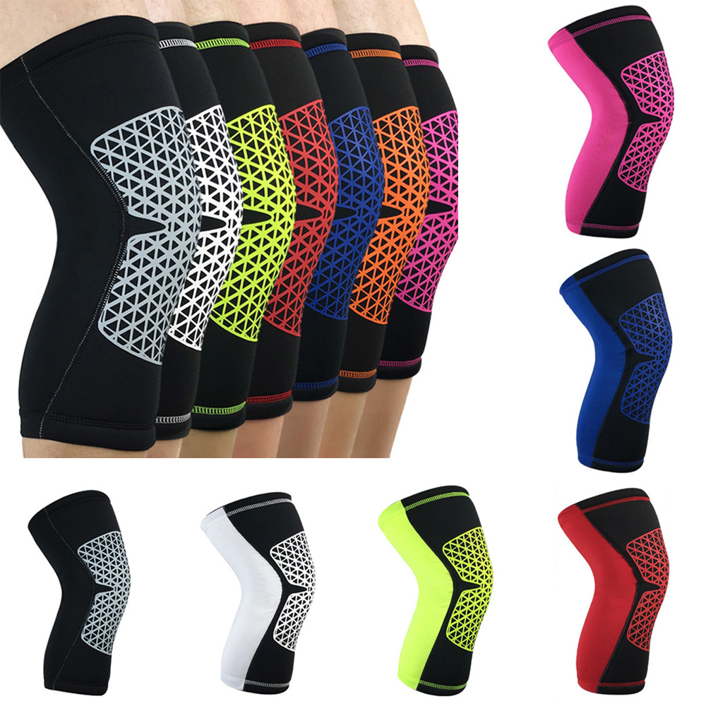 Sports Short Knee Protectors Grid Pattern Breathable Non-slip Protective Gear SPSLF0007
