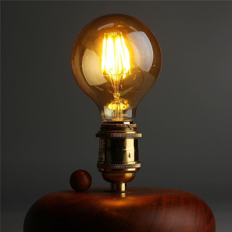 Vintage LED Light Bulb Edison Bulb E27 B22 G80 Dimmable 6W Retro Globe Light Lamp Filament Bulb 220V for Home Bar Decor Lighting