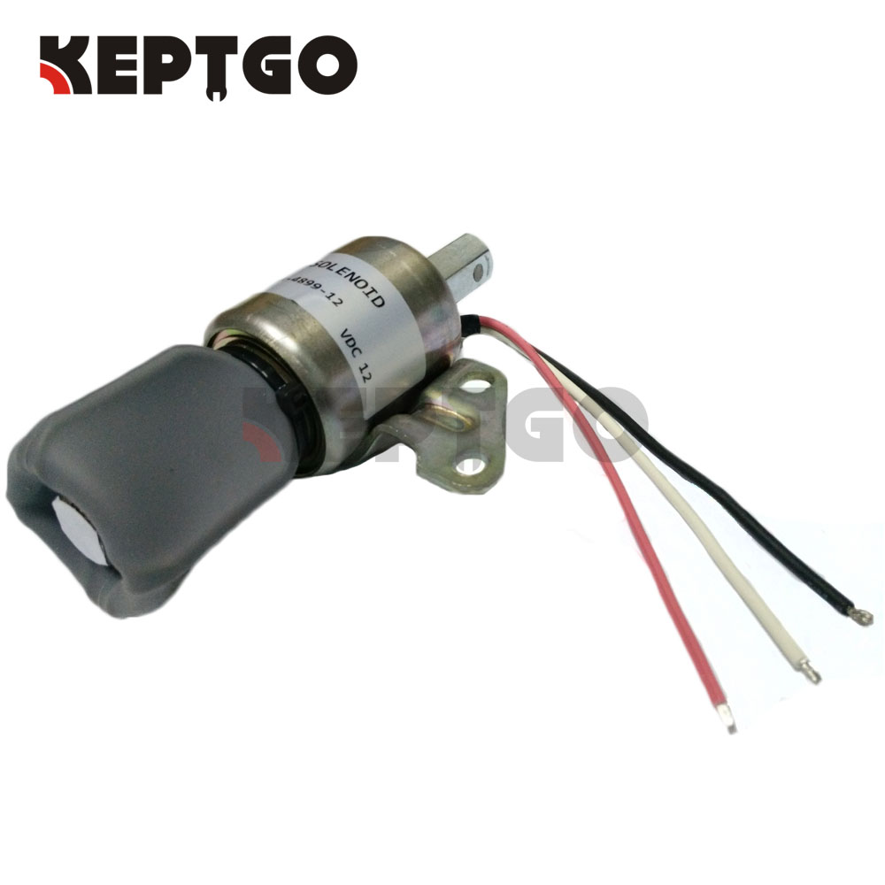 Fuel Stop Solenoid Switch Shut off For Kubota D722 D902 Z482 16851-57723 SA-4899 12V