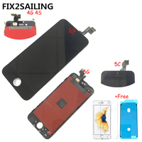 FIX2SAILING 100 Grade AAA For Apple IPhone 4 4S 5 5S 5C LCD Display Touch Screen