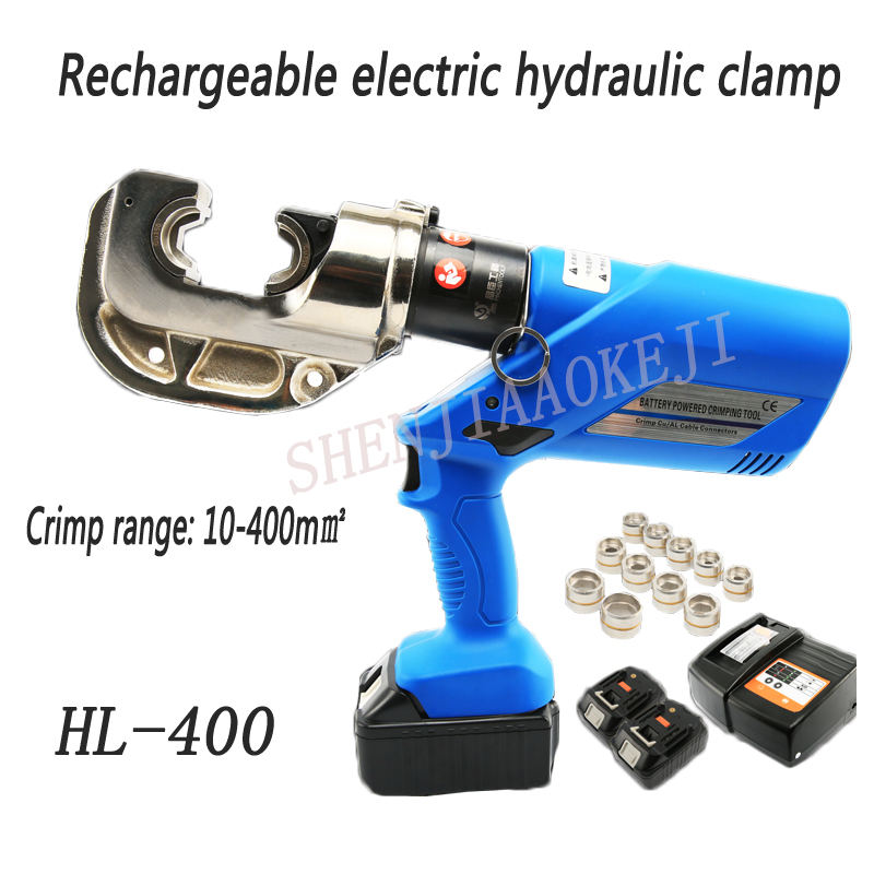 1pc HL 400 Rechargeable hydraulic pliers 18V Electric hydraulic Crimping Tools Battery Powered wire crimpers 16
