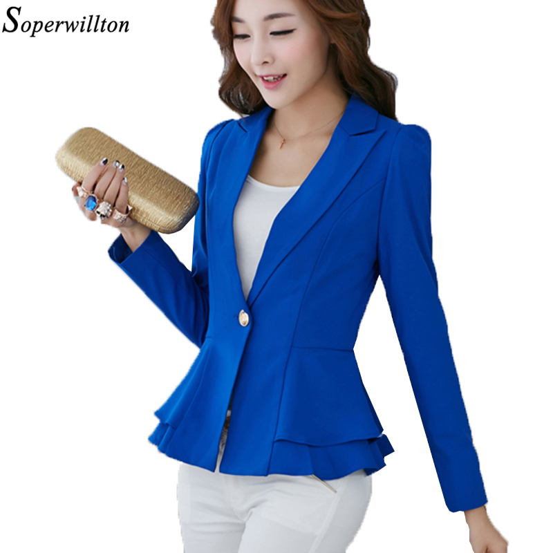 Blue Pink Ladies Blazer Jackets Work Wear 2019 Fashion Casual Long Sleeve Blasers Lady One Button Office Suit Outwear Female Refreshing And Beneficial To The Eyes Suits & Sets